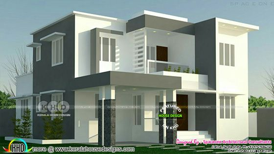 4 bedroom flat roof modern home 2000 sq-ft