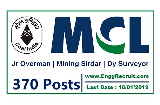 MCL Recruitment 2018