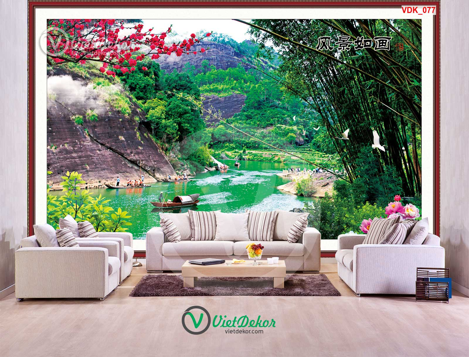 Tranh dán tường 3d phong cảnh