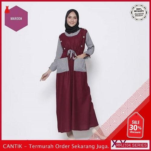 Jual RRJ104D41 Dress Syareen Maxy Wanita Vg Terbaru Trendy BMGShop