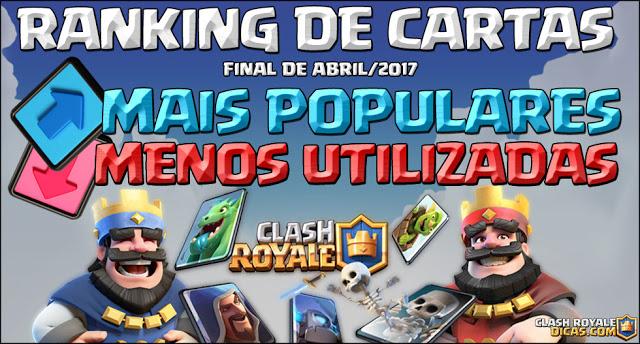 Ranking das cartas mais utilizadas (Final de Abril/2017) - 1