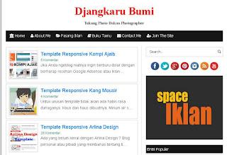 Tampilan Blog dajangkarubumi