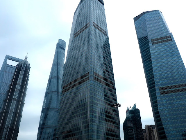 Pudong skyscrapers, Shanghai, China
