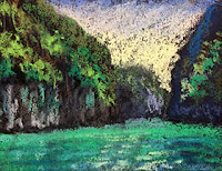 Thumbnail sketch of Emerald green waters of Phi Phi island by Manju Panchal