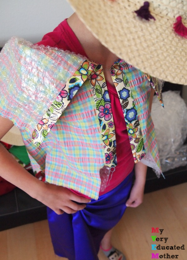 She's showing off her creative chops at a Recycled Runway Fashion Themed Birthday Party!