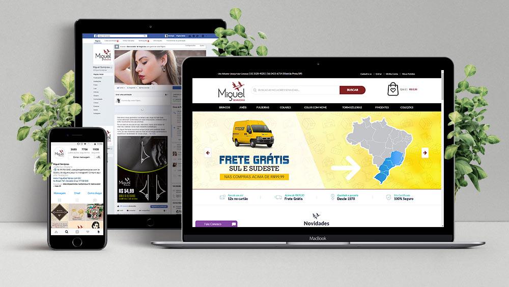 Em 2008 a empresa levou o seu primeiro site ao ar, tornando-se um setor e braço de vendas dentro da empresa, responsável também pelas redes sociais e toda a comunicação digital. O site possibilitou a empresa realizar vendas para todo o Brasil e também vendas internacionais em Portugal, México e Estados Unidos.