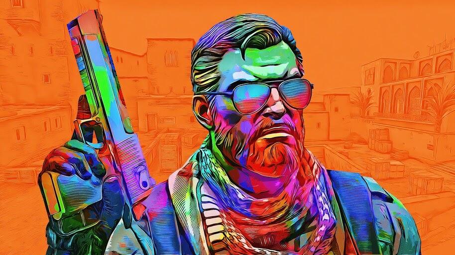 CS:GO, Pistol, Terrorist, Colorful, 4K, #4.3191