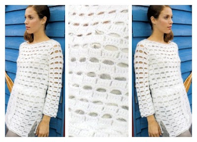Jersey blanco total de angora