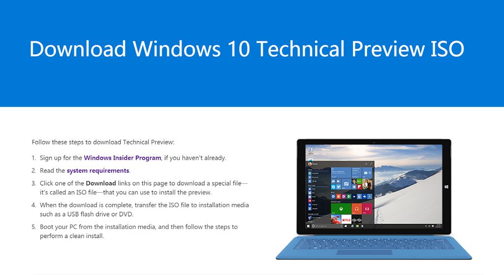 Windows 10消費者預覽版來了,僅供2種測試用戶開放下載