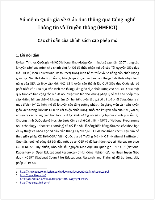 'Sứ mệnh Quốc gia về Giáo dục thông qua CNTT-TT' - bản dịch sang tiếng Việt