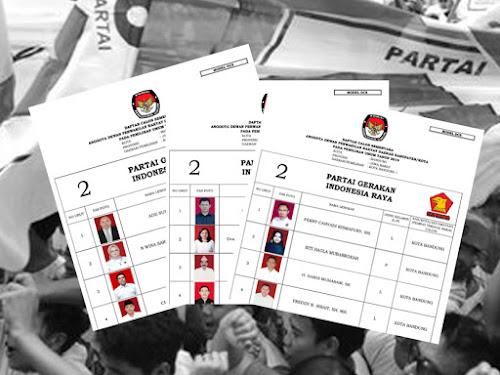 Daftar Calon Sementara Anggota DPRD Kota Bandung Pemilu 2019 dari Partai Gerindra