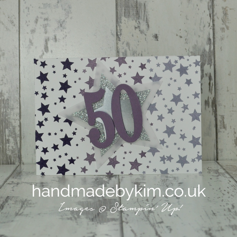 Astonishing Stampin Up Demonstrator Kim Price Handmade By Kim 50Th Personalised Birthday Cards Bromeletsinfo