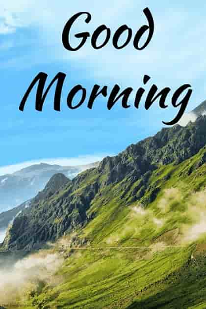good morning nature hd image with mountains