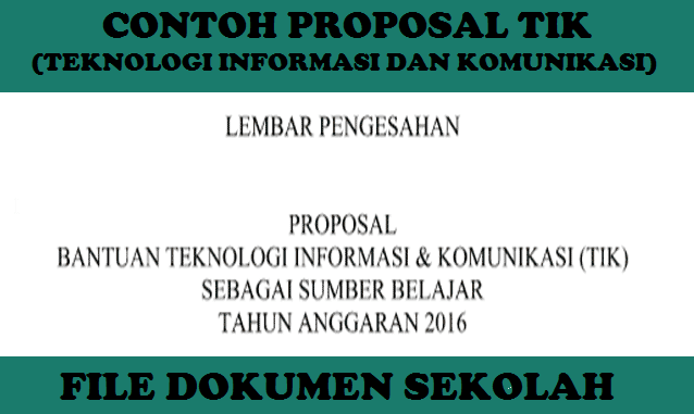 Proposal Pengajuan Bantuan TIK di Sekolah