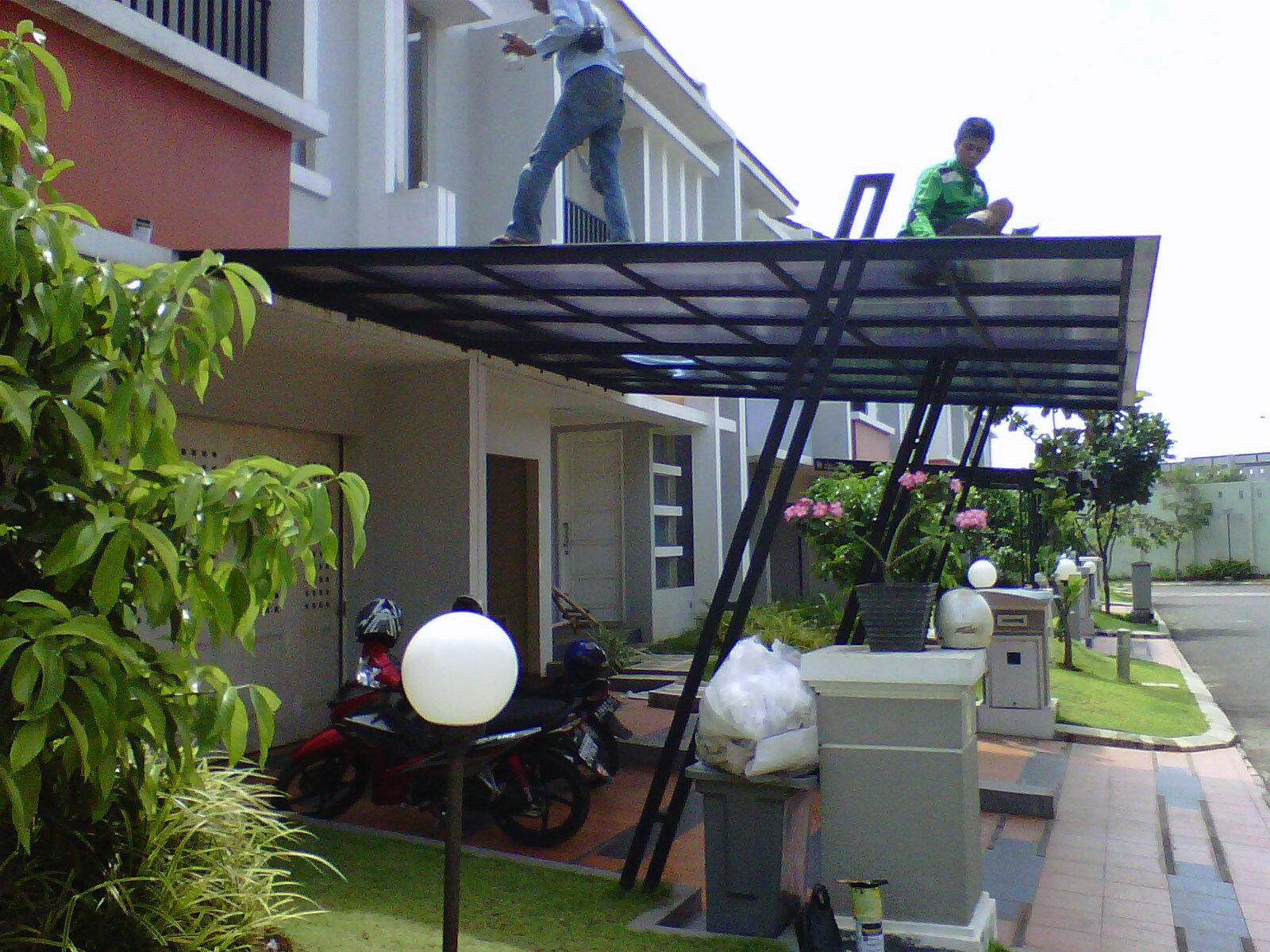 Contoh Atap Baja Ringan Rumah Minimalis Canopy Carport,kanopi: Gambar Kanopy,kanopi,canopy Carport ...