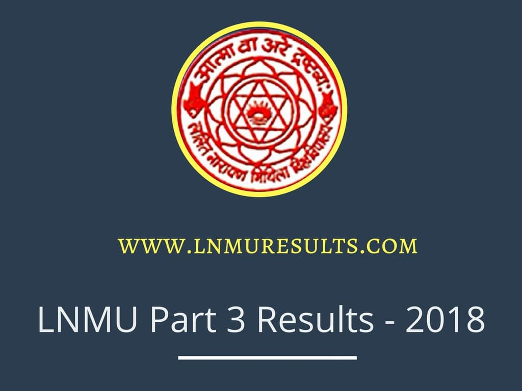 LNMU Part 1 Apply Online, Merit List 2018