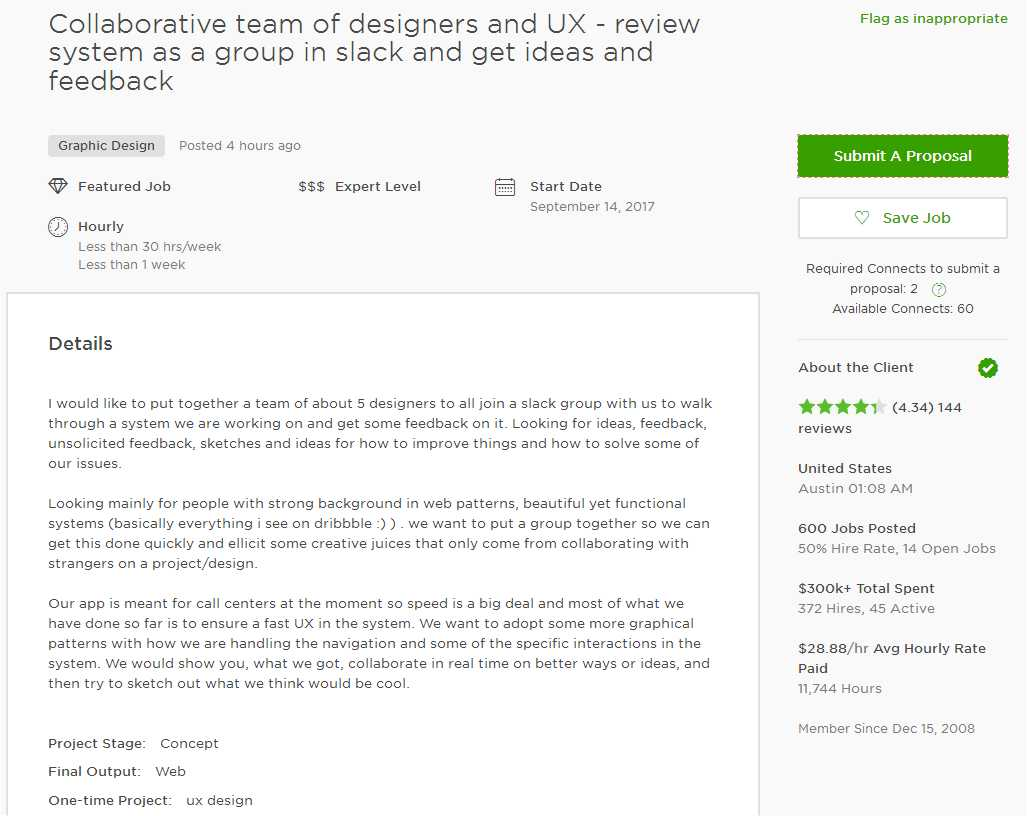 Upwork Cover Letter Sample For UI U0026 UX Designer
