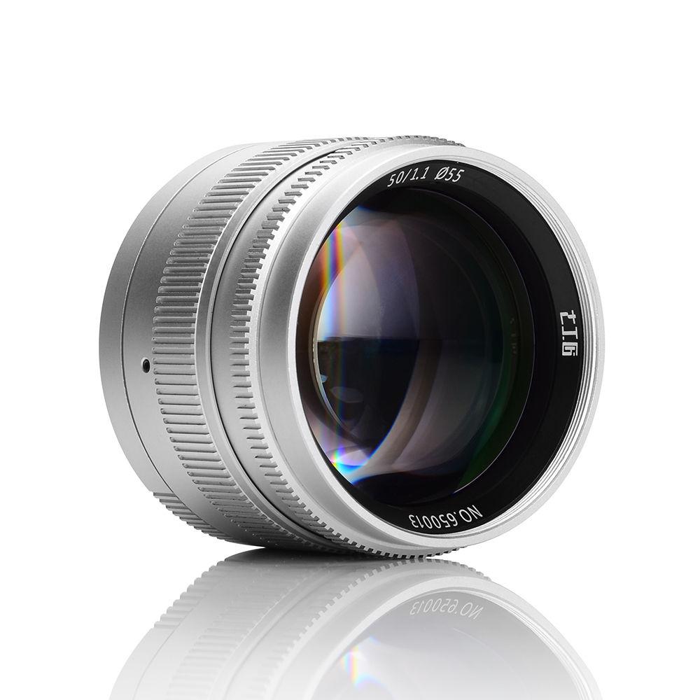 Объектив 7Artisans 50mm f/1.1, вид спереди