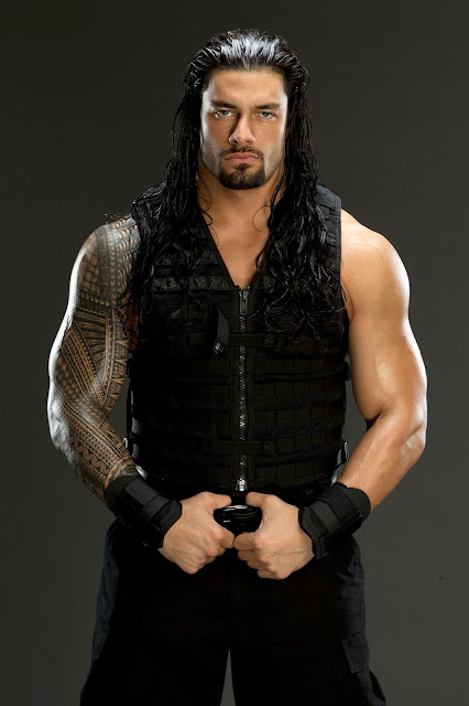 roman reigns long hair