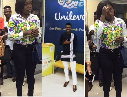Efe steps out in Native attire, spotted with Bisola at Unilever Headquarters