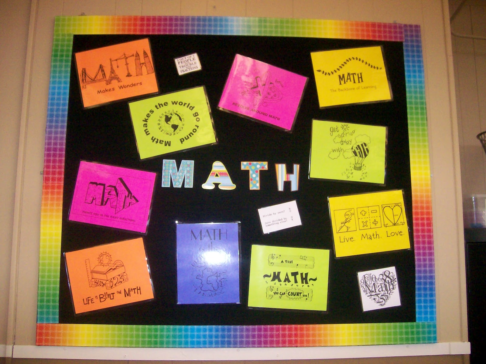 Classroom Design Math ~ Math love my classroom is done