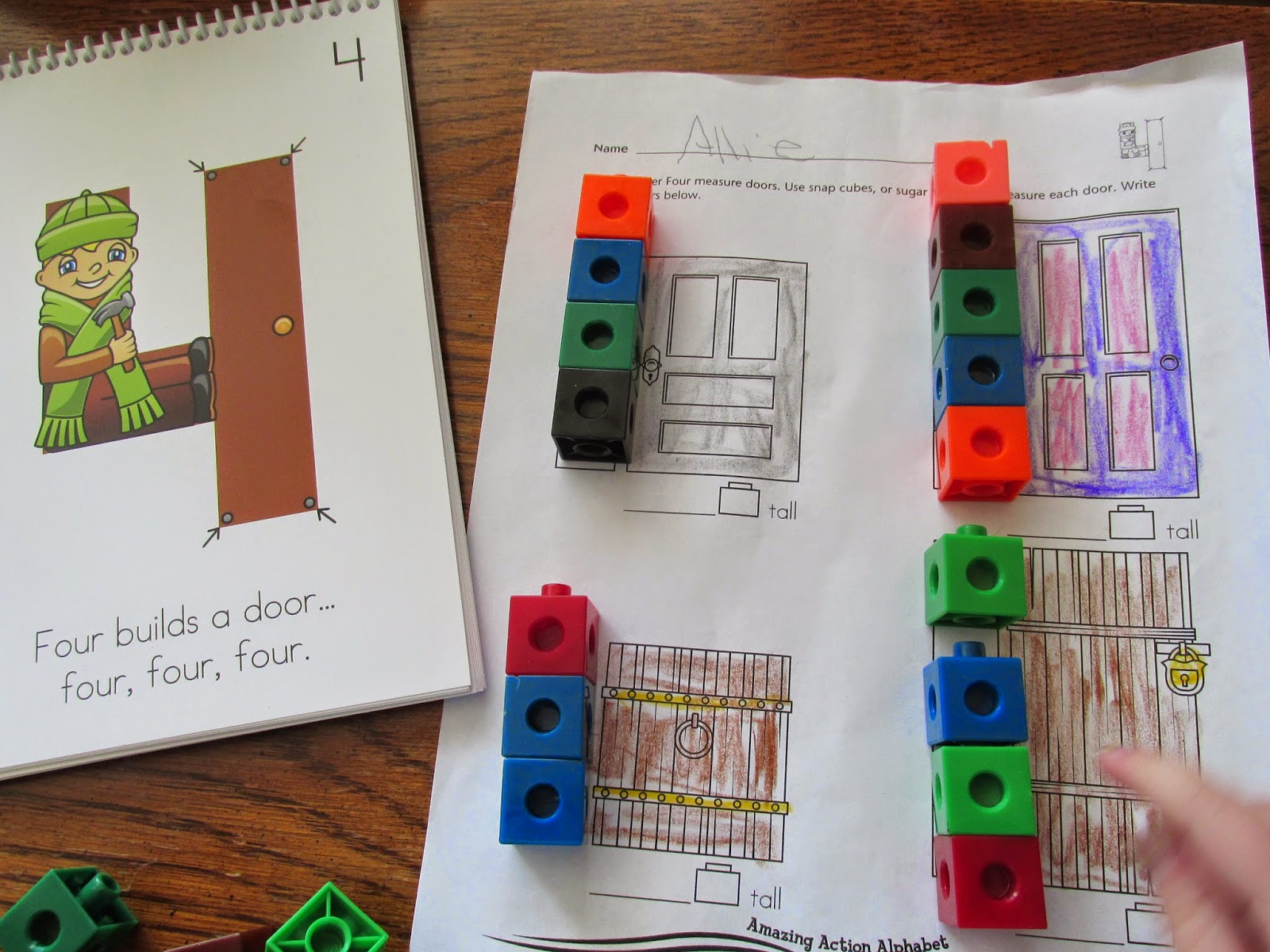 Amazing Action Alphabet Measuring With Snap Cubes