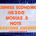 Business Economics [HS200] Note-Module 5