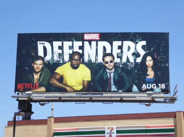 Defenders series premiere billboard