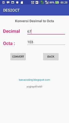 Cara Membuat Aplikasi Konversi Bilangan Desimal to Okta pada Android Studio