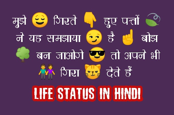 Life Status In Hindi For Fb । जिंदगी स्टेटस