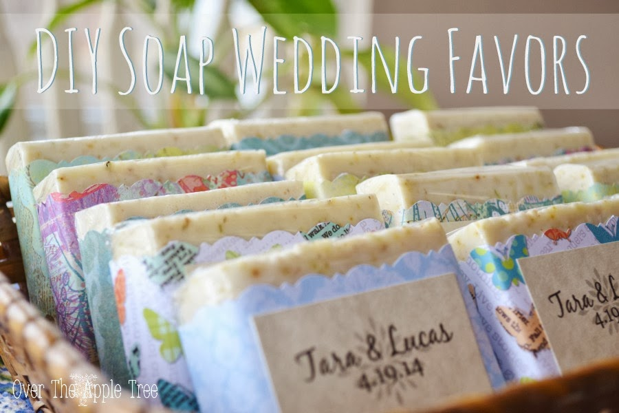 Make your own melt and pour soap for unique wedding favors by Over the Apple Tree