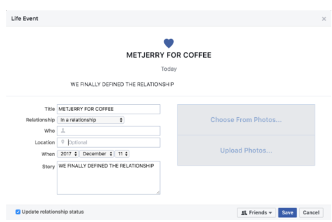 Change Relationship Status On Facebook