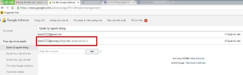 Cách giúp hạn chế email quản lý Google AdSense bị vô hiệu hóa