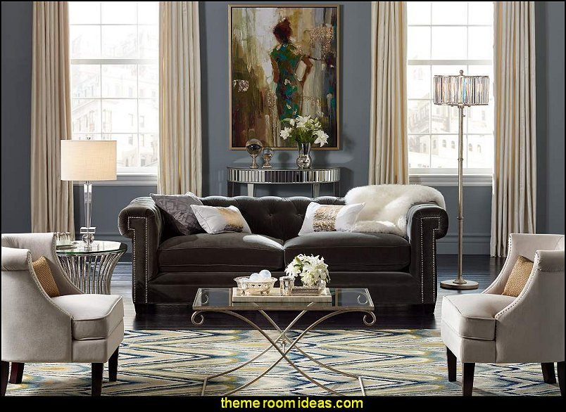 Glam Sofa Set Paula Deen Craftmaster Reviews Decorating Theme Bedrooms - Maries Manor: Old Hollywood ...