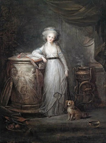 Madame Élisabeth as a Vestal Virgin by Charles Le Clerq, 1780s
