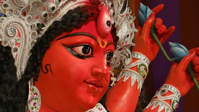 Ma Durga at a Durga Pandal in Kolkata
