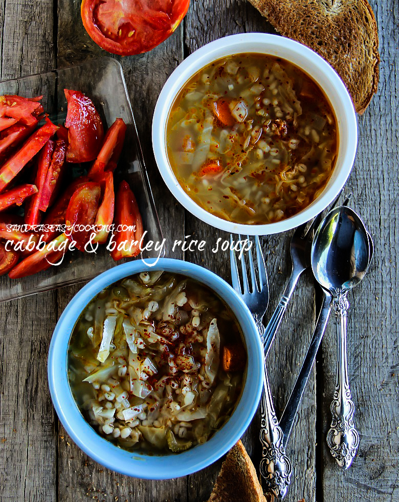 Cabbage & Barley Rice Soup