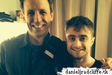 Google+: Seth Meyers backstage at The Cripple of Inishmaan