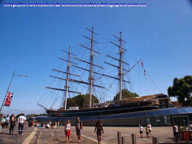 El magnífico barco Cutty Sark
