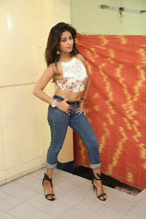 Deekshita Parvathi in a short crop top and Denim Jeans Spicy Pics Beautiful Actress Deekshita Parvathi January 2017 CelebxNext (74).JPG