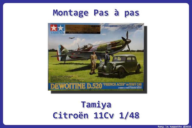 Montage de la maquette de la Citroën traction Avant de l'armée Française de 1940  de Tamiya au 1/48.