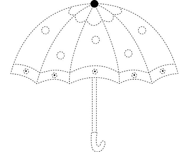 Gambar Mewarnai Payung - 8