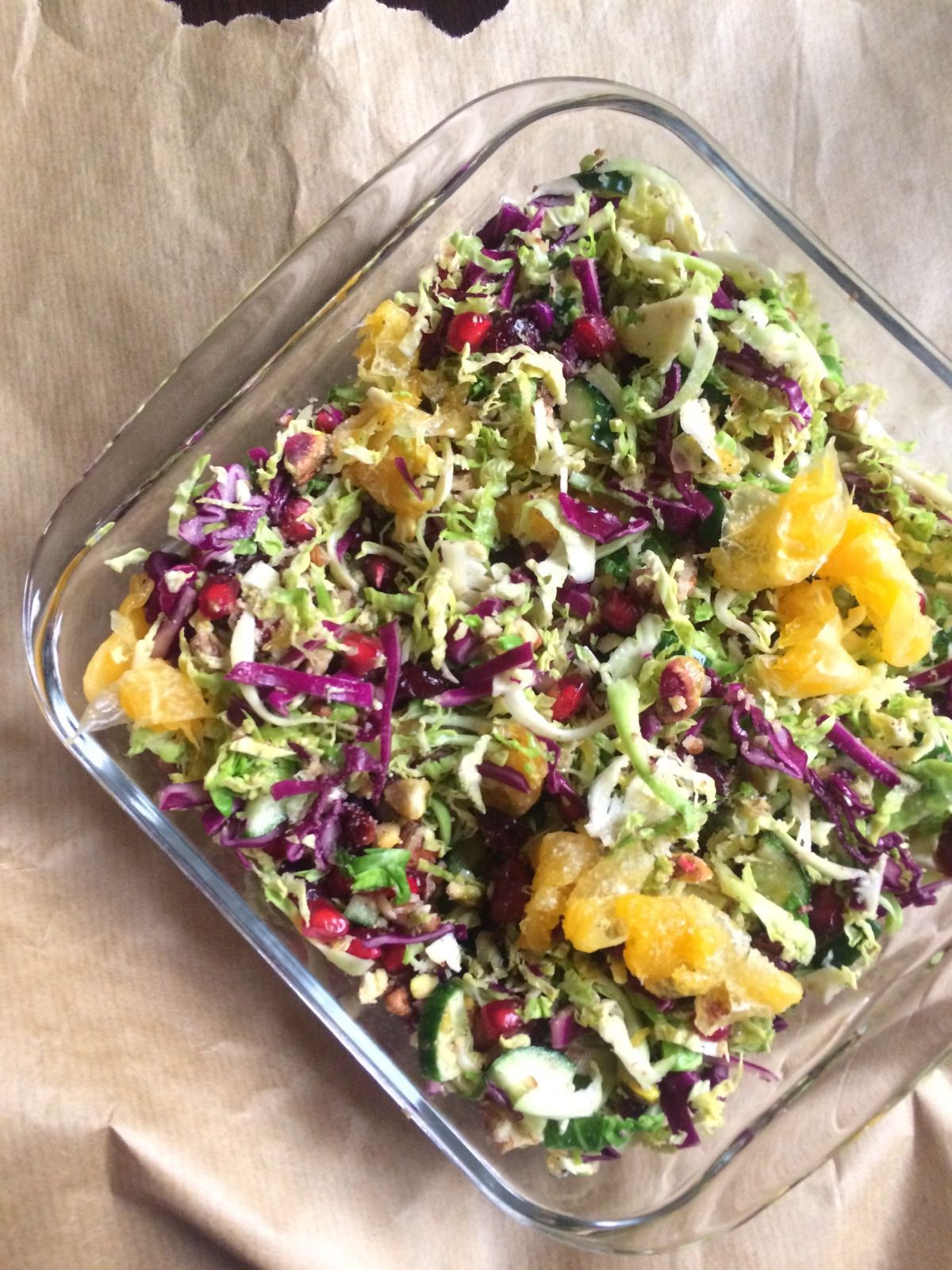Sunshine Salad with Brussels Sprouts