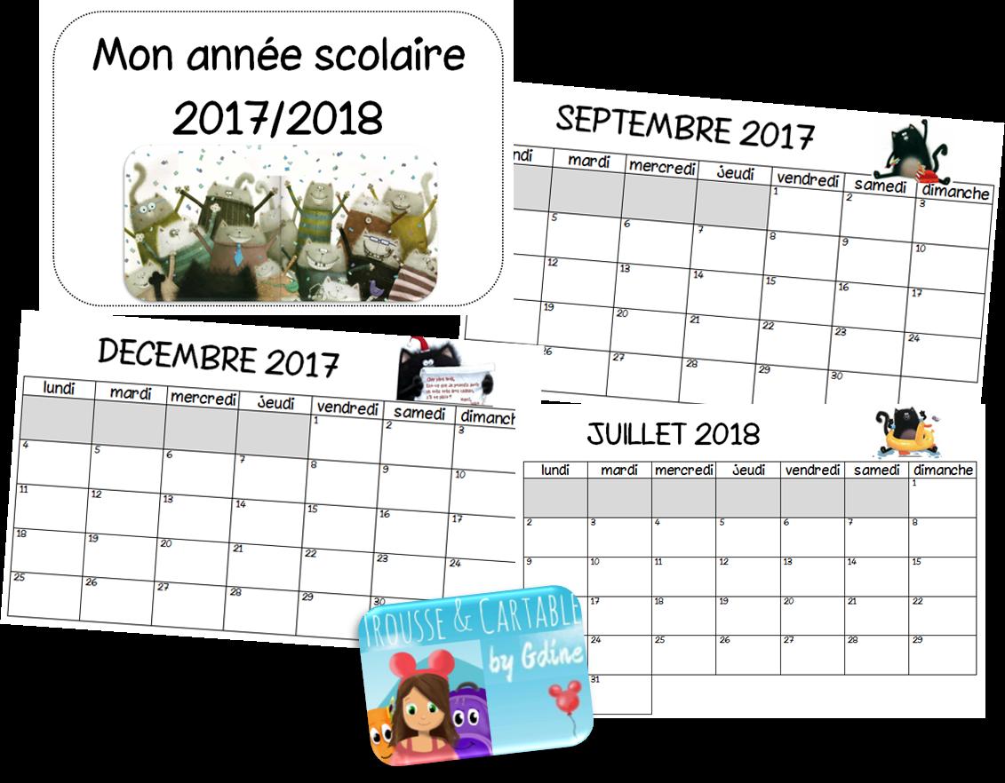 Calendrier Septembre 2018 Aout 2021 Trousse et Cartable: Calendrier 2020/2021 Splat le chat