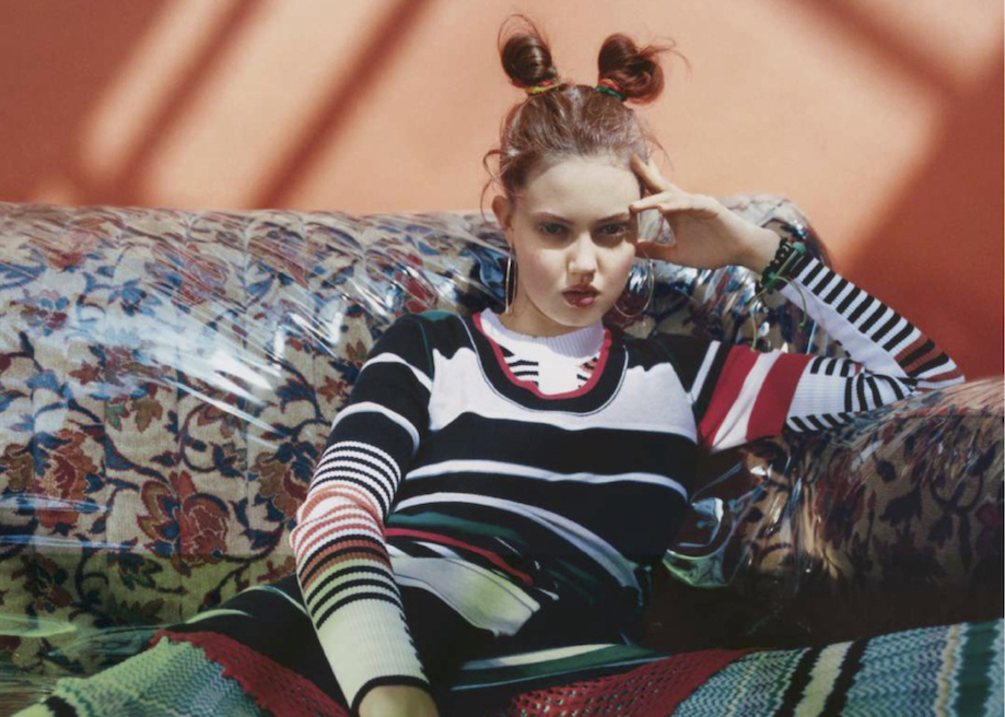 sweater girl: lindsey wixson by tyrone lebon for w december / january 14.15