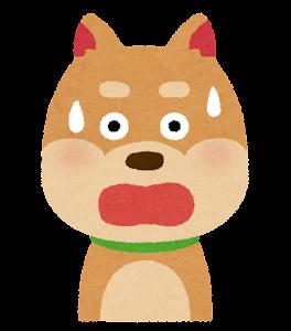 犬のイラスト「驚いた顔」