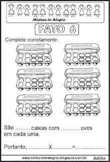 Tabuada de multiplicação do 6 ilustrada