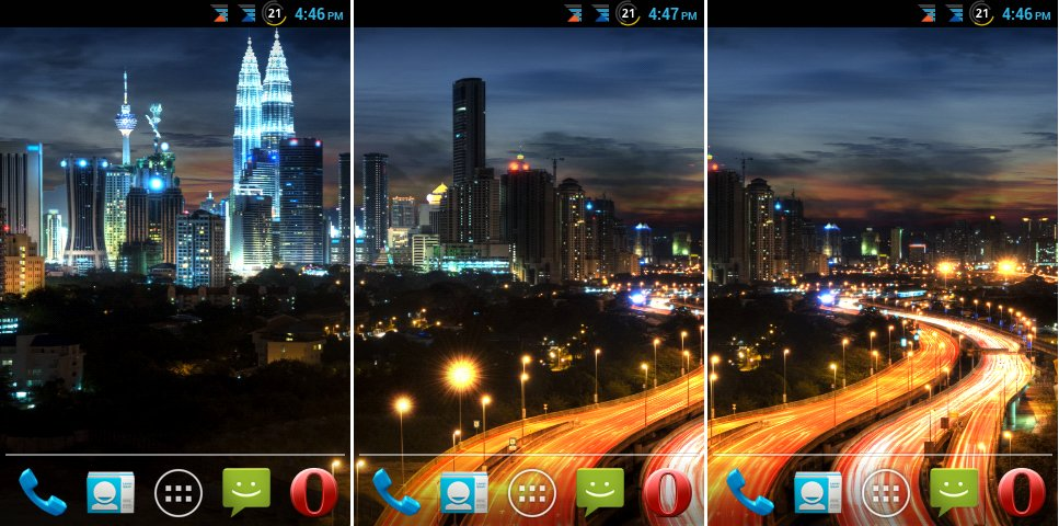 Android Games & Apps: City at Night Live Wallpaper v1.2