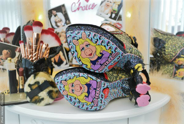 Muppets Miss Piggy soles on Irregular Choice Fierce Piggy ankle boots