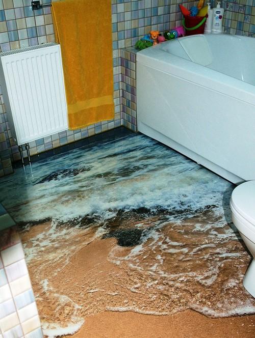 Small Bathroom 3D Epoxy Floor